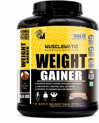 Musclematic Weight Gainers(3 kg, rich choco)