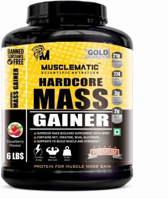 Musclematic Mass Gainers(2.72 kg, strawberry)