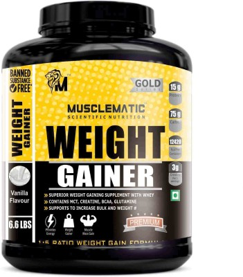Musclematic Weight Gainers(3 kg, vanilla)