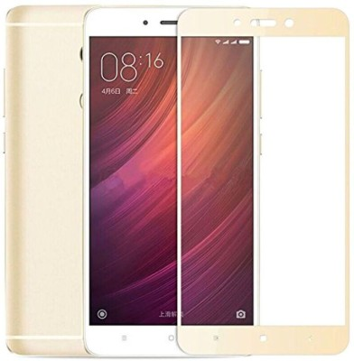VARAJ Edge To Edge Tempered Glass for Full edge to edge (Golden ) Color Tempered glass screen guard Xiaomi Mi Redmi Note 4(Pack of 1)