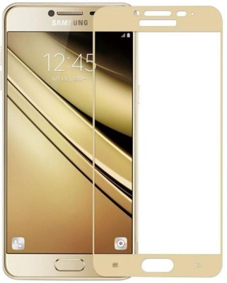 VARAJ Edge To Edge Tempered Glass for Samsung Galaxy J7 Prime Full edge to edge Color Tempered glass screen guard (Golden)(Pack of 1)