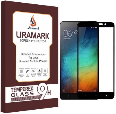 LIRAMARK Tempered Glass Guard for Xiaomi Redmi Note 3 ( Black Color )(Pack of 1)