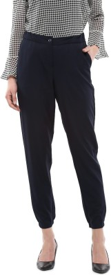 Allen Solly Regular Fit Women Dark Blue Trousers at flipkart