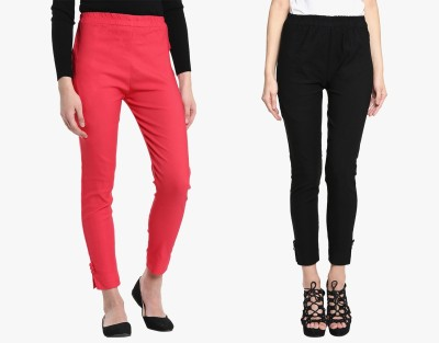 Broadstar Regular Fit Women Red, Black Trousers