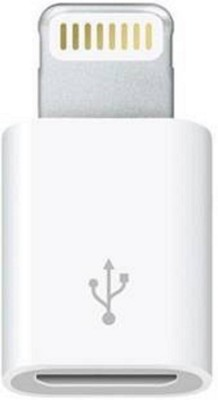 TECHON micro usb to 8-pin lighting converter cable USB Adapter(White)  available at flipkart for Rs.389