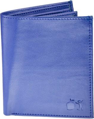 POLLSTAR Men Blue Genuine Leather Wallet(6 Card Slots)