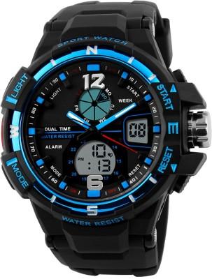 Oxhox Analog-Digital Multi function Ox Skmei Blue ( BLK-BLU ) Watch  - For Men