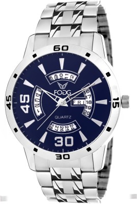 Fogg 2017-BL Day And Date Analog Watch For Men