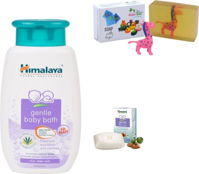 Himalaya Herbals gentle baby Shampoo (100ml)+Himalaya Gentle Baby Soap (25g) With Happy Baby Luxurious Kids Soap With Toy (100gm)(Clear)  available at flipkart for Rs.172