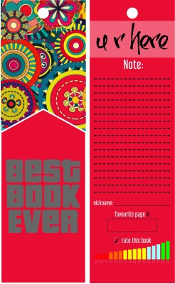 TheFlauntStore Best Book Ever pink - Bookmark Paperback Bookmark(Quotes, Multicolor)  available at flipkart for Rs.299