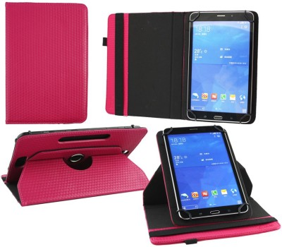 Emartbuy Flip Cover for PolaTab Elite Q10.2 Tablet 2015 10 Inch(Pink, Artificial Leather)