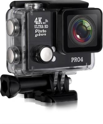 Pluto Plus 4K Ultra HD Video Waterproof Sports Action Camera Action Camera Pro 4 Sports and Action Camera(Black 20 MP)