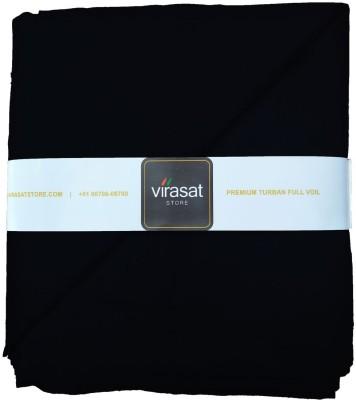 Virasat Store 6 Meter Black Solid Dastar