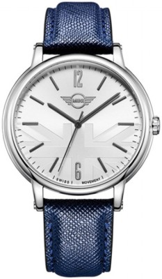 MINI 160625 Blue Strap with White Dial Analog Casual Wrist Watch  - For Men
