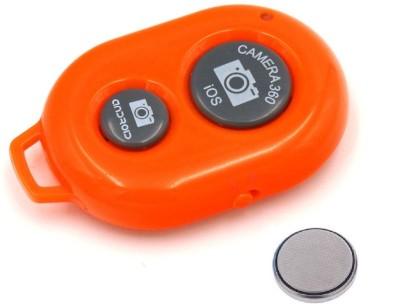 ReTrack Camera Wireless Bluetooth Remote Controler Shutter For Selfie Stick-Tripod-Samrt Phone  Camera Remote Control(Orange)  available at flipkart for Rs.199