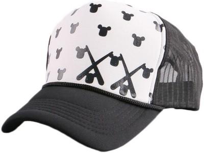 ce9ce015 Friendskart Printed Printed Fashion caps, White Teddy Baseball, caps, Hip  Hop Caps,