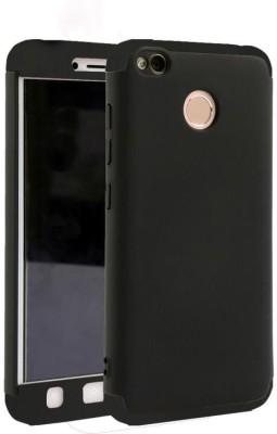 GadgetM Front   Back Case for Mi Redmi 4 Black, Dual Protection