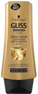 Schwarzkopf Gliss Hair Repair with Liquid Keratin Ultimate Oil Elixir Conditioner(200 ml)