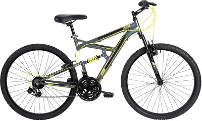 Huffy DS-3 26 Inches 21 Speed Gray 26 T 21 Speed Mountain Cycle(Grey, Black)