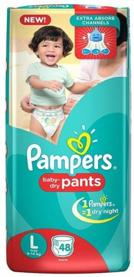 Pampers New Pants Style L Diapers (48 Pieces)