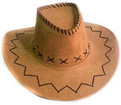 Theme my party Cow boy Hat(Brown, Pack of 1)