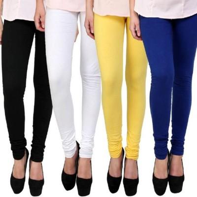 NGT Churidar  Legging(Black, White, Yellow, Blue, Solid)