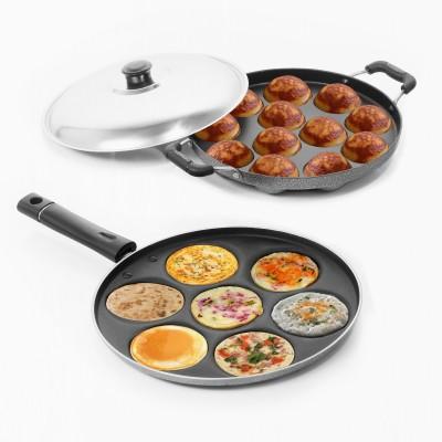 Sumeet Nonstick Delight Combo Set (Multi Snack Maker - 7 Pcs + Grill Appam Patra - 12 Pcs) Pan 23 cm diameter(Aluminium, Non-stick)  available at flipkart for Rs.949