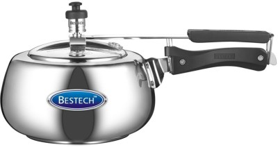 Bestech Mirror Finish Cherry Inner Lid 5 L Pressure Cooker with Induction Bottom(Aluminium)
