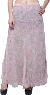 Go India Store Printed Women Straight Multicolor Skirt