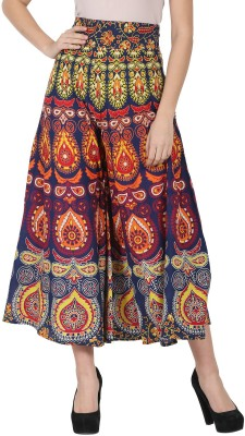 Nayo Printed Women Gathered Multicolor Skirt