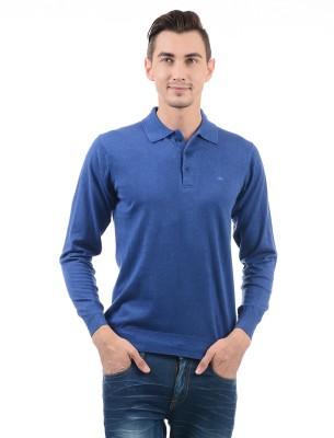 Monte Carlo Solid Men Polo Neck Blue T-Shirt Flipkart