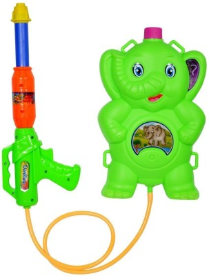 Confidence Colorful Toys Pichkari For Kids Boys And Girls / Pichkari With Water Tank And Gun / Pichkari For Holi / Pichkari With Water Splash Tank (K-045)(Multicolor)