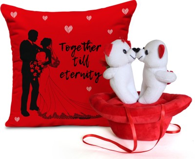 Tied Ribbons Valentine's Day Best Gifts for Her Girlfriend Wife Lover Cushion(12 inch X
