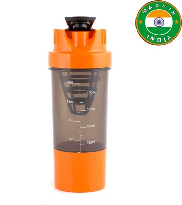 BNP lias sipper 500 ml Shaker(Pack of 1, Black)