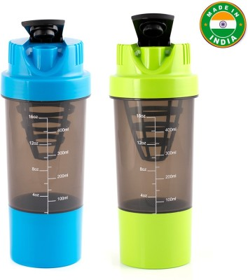 HAANS Cyclone Shakers Combo(set of 2) 1000 ml Shaker(Pack of 2, Blue, Green)