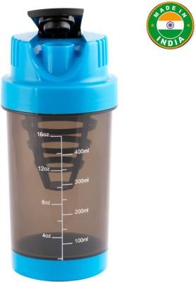 HAANS Mini Gym 500 ml Shaker(Pack of 1, Blue)
