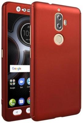 Coverage Back Cover for Lenovo K8 Plus(Red, Plastic, Rubber)