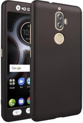 Coverage Back Cover for Lenovo K8 Plus(Black, Plastic, Rubber)