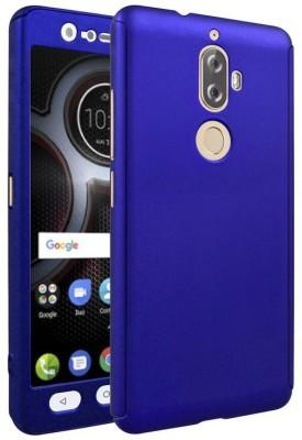 Coverage Back Cover for Lenovo K8 Plus(Royal Blue, Plastic, Rubber)