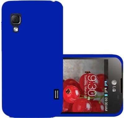 Top Grade Back Cover for LG Optimus L5 II Dual E455(Blue, Grip Case, Plastic)