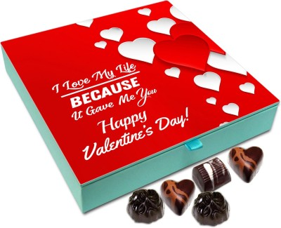 24 Off On Chocholik Valentines Day Gift Box I Love My Life Because It Gave You Chocolate Box 9pc Truffles 108 G On Flipkart Paisawapas Com