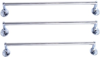 LAKSHAY STAINLESS STEEL HOOK TOWEL ROD -24 INCH -3 PIC SETS Stainless Steel Wall Cloth Dryer Stand(Steel)  available at flipkart for Rs.545