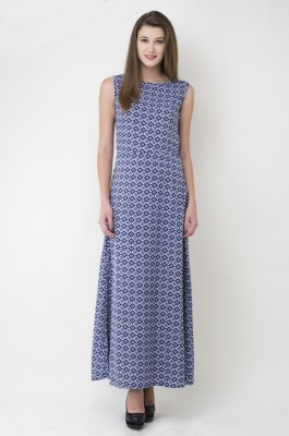 JHA FASHION Women Maxi Blue Dress