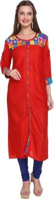 SEAGULL Casual Printed Women Kurti(Red)