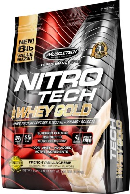Muscletech Performance Series Nitrotech 100% Whey Gold Whey Protein(3.63 kg, French Vanilla Cream)