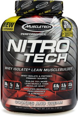 Muscletech Performance Series Nitrotech Whey Protein(1.8 kg, Cookies and Cream)