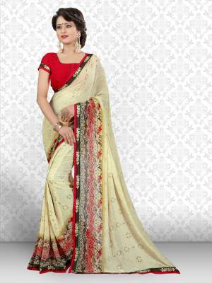 Divastri Floral Print Bollywood Georgette Saree