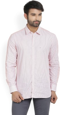 Indigo Nation Men's Striped Casual Red, White Shirt