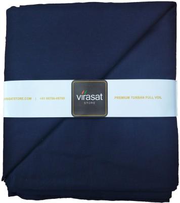 Virasat Store 5 Meter Navy Blue Solid Dastar