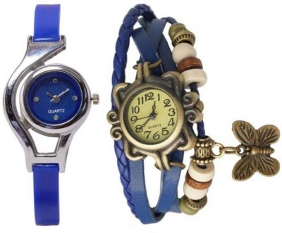 INDIUM PS0441PS NEW COMBO BLUE GLORY WITH BUTTERFLY DORY TYPE WATCH Watch  - For Girls   Watches  (INDIUM)